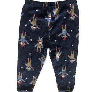 Gymboree Size 2T Sock Monkey PJ bottoms